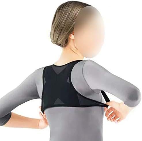 GUANGXINNI Ladies Adult Adjustable Posture Corrector Brace Net Breathable Back Spine Support Belt