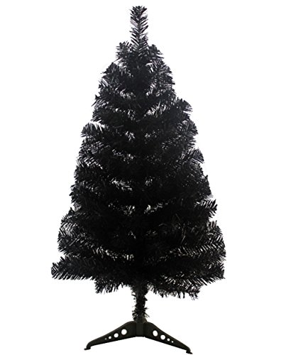 Adanina VIDOSCLA Artificial Christmas Tree 5ft/150cm & 3ft/90cm & 2ft/60cm PVC Artificial 7 Colors Christmas Tree Stand Indoor Decoration Easy Fold Branch