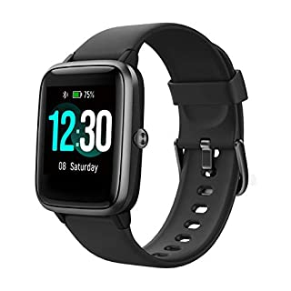 Fitpolo Fitness Tracker with Heart Rate Monitor, Smart Watch 1.3 inches Color Touchscreen IP68 Waterproof Step Calorie Counter Sleep Monitoring Pedometer Watches Activity Trackers for Women Men
