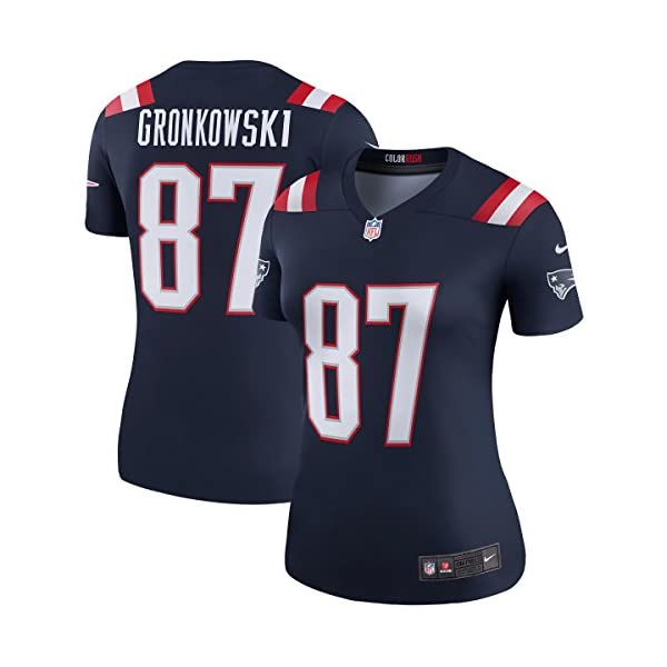 quality design 05dde 45a14 NIKE Women's New England Patriots Rob Gronkowski #87 Color Rush Legend  Football Jersey Navy/Red/White 845815-422
