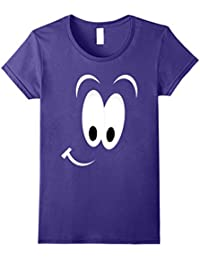 Funny Smiling Face T-Shirt, Happy Face Tee - Dark Background