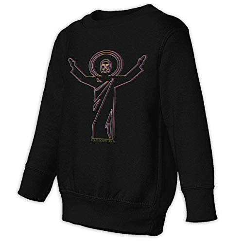 Xgbb Touchdown Jesus Catholic Religious Toddler Long Sleeve Pullover Sweatshirt Little Boys' Sweatshirt Black 4T]()