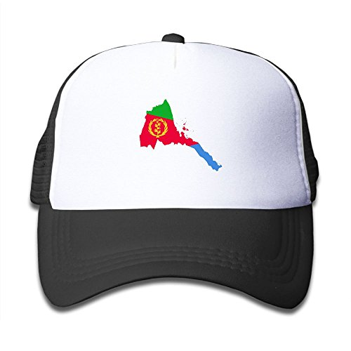 Haidilun Eritrea Majestic Flag Map Kids Lightweight Quick Drying Mesh Back Adjustable Cap Uv Protection Caps