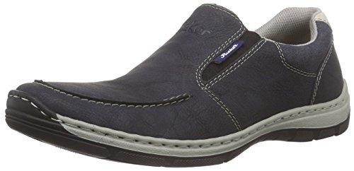 Rieker 15260 Loafers & Mocassins-Men - Mocasines Hombre Azul (ozean/navy/chalk / 14)