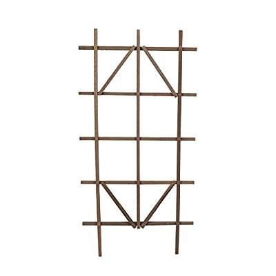 "Panacea 83738 Wooden Ladder Trellis, 48"" Tall, Brown"