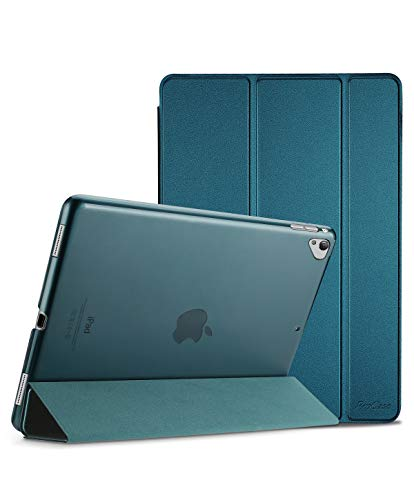 ProCase iPad Pro 12.9 2017/2015 Case (Old Model, 1st & 2nd Gen), Ultra Slim Lightweight Stand Smart Case Shell with Translucent Frosted Back Cover for Apple iPad Pro 12.9 Inch -Teal