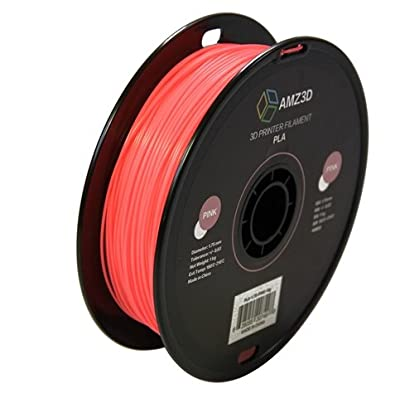 1.75mm Pink PLA 3D Printer Filament - 1kg Spool (2.2 lbs) - Dimensional Accuracy +/- 0.03mm