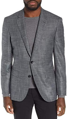 [해외]Hugo Boss Men`s `T-Heel3` Grey Slim Fit Wool Blend Textured Sport Coat Blazer 38R / Hugo Boss Men`s `T-Heel3` Grey Slim Fit Wool Blend Textured Sport Coat Blazer 38R