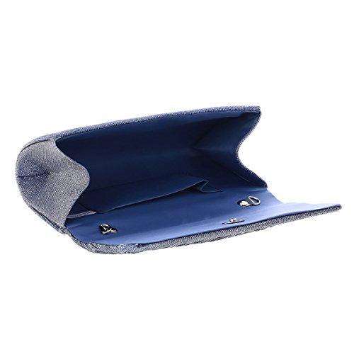 Purple Damara Pleated Graceful Women's Evening Rhinestone Light Flap Handbag TZqpH4