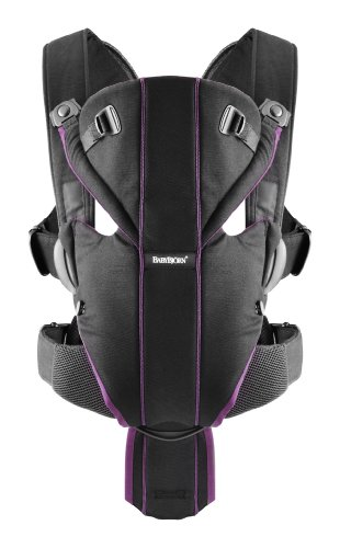 BABYBJORN Baby Carrier Miracle - Black/Purple, Cotton Mix