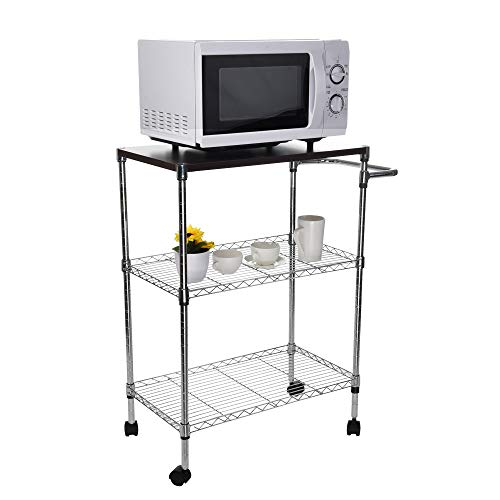 Tronet Kitchenware 4-Shelf Storage Rack Microwave Oven Holder Wheeled Trolley [Ship from USA Directly] by Tronet (Image #3)