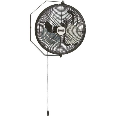 Bannon Wall-Mount Enclosed-Motor Workstation Fan - 12in. 2530 CFM