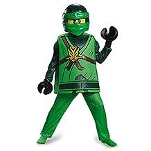 Disguise Costumes Lloyd Deluxe Ninjago Lego Costume, Medium/7-8