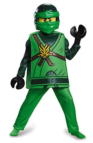 Disguise Lloyd Deluxe Ninjago Lego Costume, Medium/7-8 (Ninjago Childs Costume)