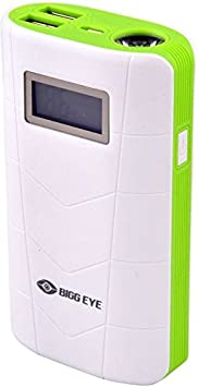 Bigg Eye PB 02 Digital Display High Quality 10000 mAh Power Bank  White Green  Power Banks
