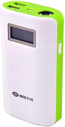 Bigg Eye PB 02 Digital Display High Quality 10000 mAh Power Bank  White Green