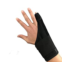 Ultrafun Trigger Finger Splint Brace Support Breathable Wrist and Thumb Fracture Finger Stabilizer Brace Sleeves for Pain Relief, Carpal Tunnel Arthritis Tendonitis (Black)
