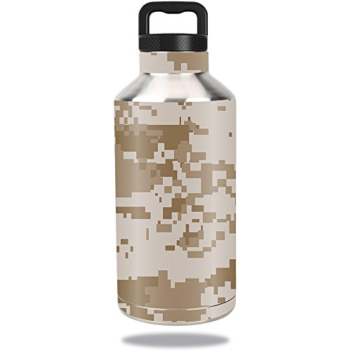 MightySkins Skin Compatible with Ozark Trail Water Bottle 64 oz wrap Cover Sticker Skins Desert Camo ()