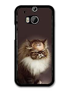 AMAF ? Accessories Bald Grumpy Cat case for HTC One M8 by runtopwell