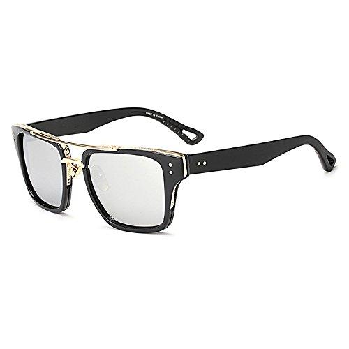 mujer de lente de Day Vision Cuadrado diseño Gafas Wayfarer Eye para para con hombre Hombres de Plata Wear sol Unisex estuche Gafas negro gradiente lente montura EqXOqA
