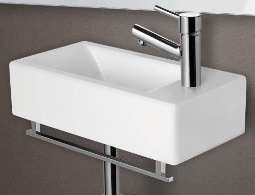 ALFI brand AB108TB 17-Inch Squared Towel Bar for AB108 Bathroom Sink Basin, Chrome