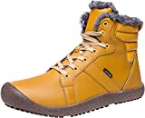 L-RUN Womens Ankle Waterproof Insulated Snow Boot Lightweight Yellow 6.5 M US