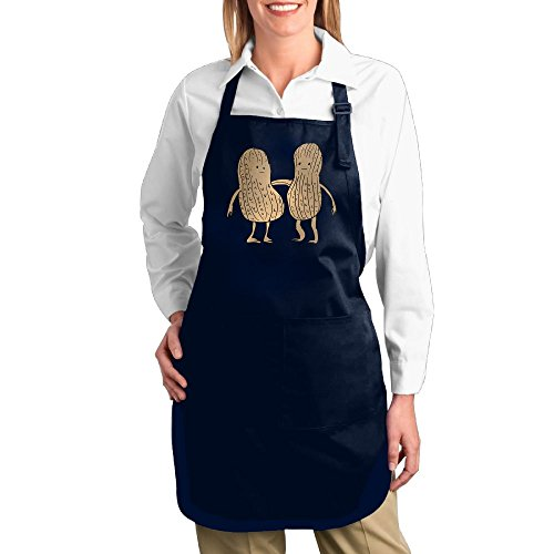 [Dogquxio Best Friends Peanuts Kitchen Helper Professional Bib Apron With 2 Pockets For Women Men Adults Navy] (Diy Cartoon Character Costume Ideas)