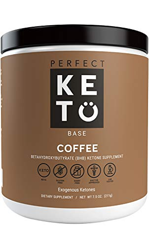 Perfect Keto Coffee Exogenous Ketones: Base BHB Salts Supplement. Ketones for Ketogenic Diet Best to Support Energy, Focus and Ketosis Beta-Hydroxybutyrate BHB Salt