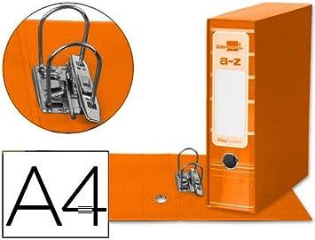 5 ARCHIVADORES DE PALANCA LIDERPAPEL A4 FILING SYSTEM NARANJA CON CAJA: Amazon.es: Oficina y papelería