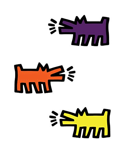 Keith Haring Barking Dogs, Assorted Colors, Officially Licensed, 22