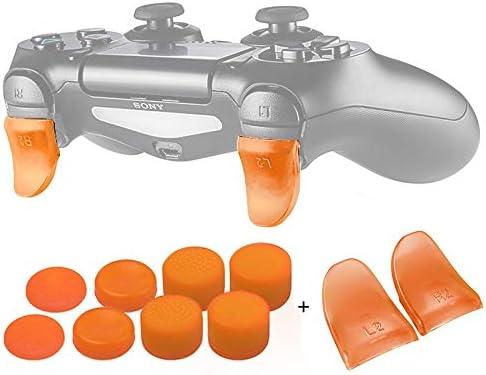 CXBH プレイステーション4 PS4 / PS4スリム/ Proのゲームコントローラ付属品のためのデータFROG 1ペアL2、R2ボタントリガーエクステンダーゲームパッドパッド (色 : 02)
