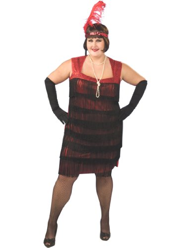Flapper Costume Plus Size 1920's Dress Dancer Womens Theatrical Costume (Flapper Dancer)