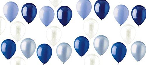 [해외]로얄 네이비 다크 라이트 블루 모듬 혼합 블루 모리 팩 12 인치 고무 라텍스 파티 풍선 웨딩 신부 베이비 샤워 특별 이벤트 (50 개)/Royal Navy Dark Light Blue Assorted Mixed BL