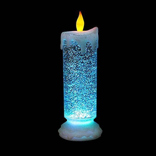Grande Bougie Lumineuse Paillete Change De Couleur Noel Amazon Fr