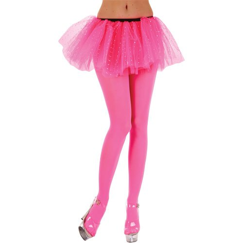 047ac00adfc15 Wicked Costumes STD Ladies Opaque Tights/Neon Pink Tights for 80s Madona  Fancy Dress: Amazon.co.uk: Toys & Games