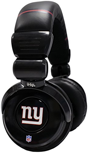 iHip Official Giants Noise Isolation Pro DJ Quality Headphones! Detachable Cord - Built-In Microphone With Volume Control - Quality Headphones for any Giants Fan!