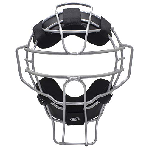 Adams Comfort-Lite Baseball and Softball Umpire and Catcher's Mask, Silver