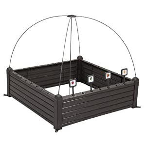 Curver Serra Raised Garden Bed Marrone 2 spesavip