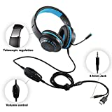 Pacrate Gaming Headset for PS4 PC Xbox One