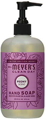 Mrs. Meyer's Liquid hand soap, Peony, 12.50 oz (Scented Peony Shower Gel)