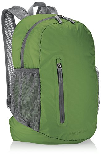 Amazon Basics Ultralight Portable Packable Day Pack 1 Ultra-light packable daypack with 2-way zipper for secure closure Roomy main compartment, 1 front zipper pocket, internal zippered pocket, and 2 mesh side pockets Adjustable breathable straps ensure a proper fit and comfortable all-day use