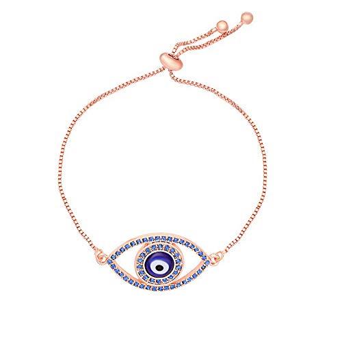 SENFAI Classics Evil Eye Adjustable Bracelet with Yellow Gift Box (6-2)