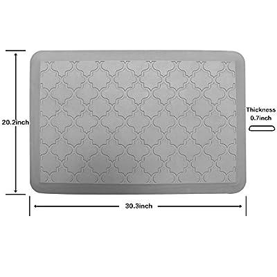 Cross Land Commercial Grade Anti-Fatigue Mat Comfort Floor Standing Mat for Kitchen, Office