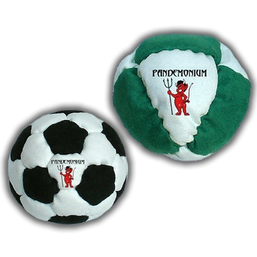 Classic Set Cyclone + Contagion Set of 2 Footbags 08 + 32 Panels Hacky Sack Intermediate Bags Sand Filled Weighted At 2.1 Once Footbag by Pandemonium Footbag