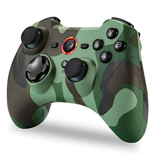 Wireless Controller for PC, Wireless Bluetooth Gamepad Controller Controller Joystick with Remote Double Vibration / 6…