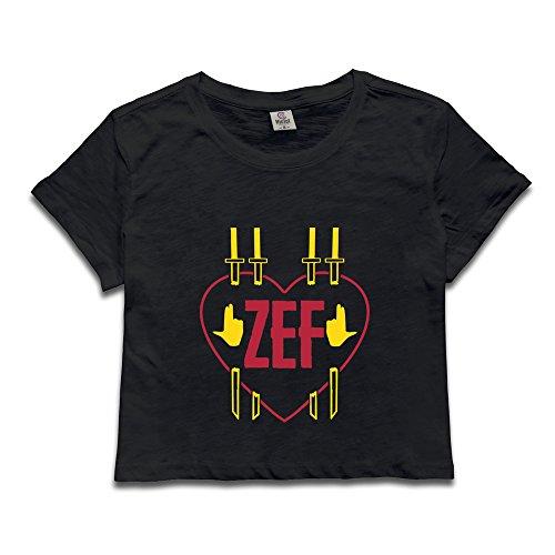 (Women Zef Heart Dew Navel Tshirt)
