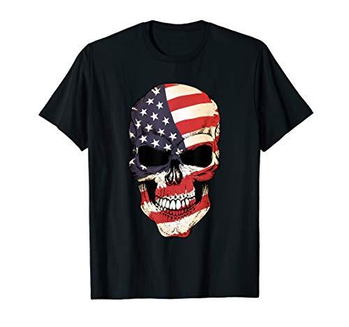 an Skull Flag Patriotic T-Shirt ()