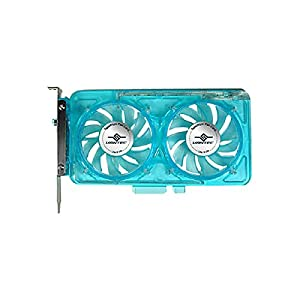 Vantec SP-FC70-BL Spectrum System Fan Card with Dual Adjustable 70mm UV LED Fans (Blue)