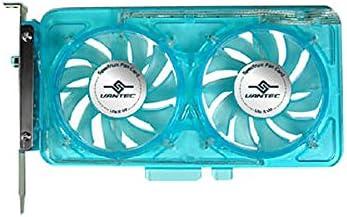 Blue Vantec SP-FC70-BL Spectrum System Fan Card with Dual Adjustable 70mm UV LED Fans