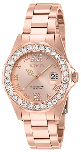 Invicta Women's 15253 Pro Diver Rose Gold Ion-Plated Stainless Steel Watch (Watches Invicta Women Gold)
